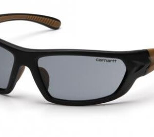 (12 Pair) Carhartt CHB220DT Carbondale Safety Glasses Blk/Tan Frm w/Gry Anti Fog