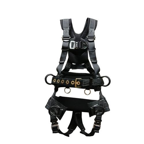 Elk River Peregrine Tower Harness Quick Connects 6 D Rings Aluminum With Saddle Xl