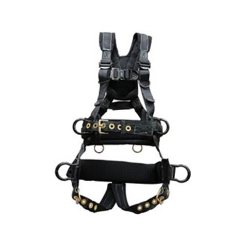 Elk River Peregrine Tower Harness Tongue Buckles 6 D Rings Aluminum With Saddle L
