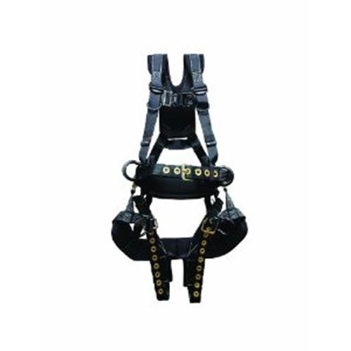 Elk River Peregrine Ras Tower Harness Tongue Buckles 6 D Rings Aluminum With Removable Saddle L