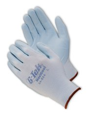 ATG Maxiflex 34-824 Blue Large Lycra/Nylon Cut-Resistant Gloves - EN 388 1 Cut Resistance - Nitrile Palm & Over Knuckles Coating - 8.7 in Length - Seamless Knit - 34-824/L [PRICE is per DOZEN]