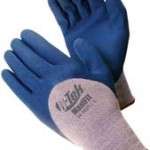 ATG Maxiflex 34-9025 Blue/Gray Large Cotton/Lycra/Nylon Cut-Resistant Gloves - EN 388 1 Cut Resistance - Nitrile Palm & Over Knuckles Coating - 8.7 in Length - Seamless Knit - 34-9025/L [PRICE is per DOZEN]