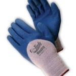 ATG Maxiflex 34-9025 Blue/Gray Medium Cotton/Lycra/Nylon Cut-Resistant Gloves - EN 388 1 Cut Resistance - Nitrile Palm & Over Knuckles Coating - 8.3 in Length - Seamless Knit - 34-9025/M [PRICE is per DOZEN]