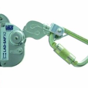 Capital Safety 6160030 DBI/SALA Lad-Saf Sleeve with Carabiner, Cam and Inertial Locking Fits 3/8-Inch and 5/16-Inch Diameter, Silver