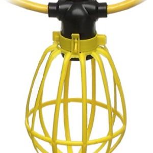 Coleman Cable 07145 100' Cord-o-Lite 14/2 SJTW, 15-Amp Standard, Plastic Guard, No Plug & Connector