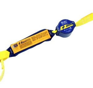 DBI-SALA,Retrax 1241463 Shock Absorbing Lanyard, 6-Foot Single-Leg Retractable Web And Snap Hook At One End, Web Loop Choker At Other End, Navy/Yellow