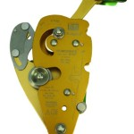 DBI-SALA,Rollgliss Technical Rescue, Noworries 8700077 Double Stop Descender, Anodized Gold Aluminum, Green Handle, Suits 1/2-Inch Rope