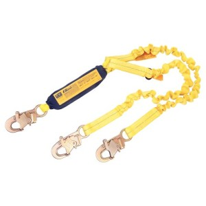 DBI/Sala 1241006 100-percent Tie-Off Shock Absorbing Stretch Lanyard, Yellow
