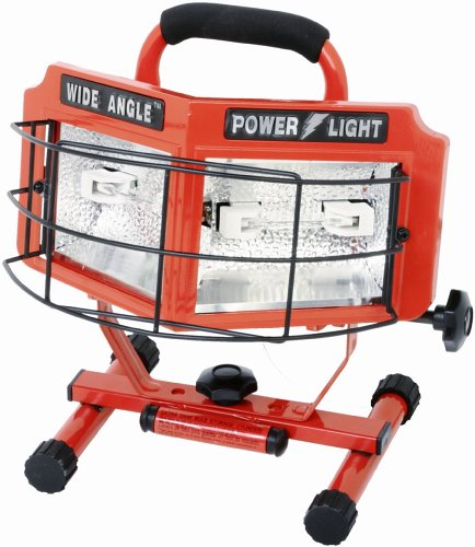 Craftsman 500 Watt Halogen Worklight: Designers Edge L-5200 500-Watt Double Bulb Halogen 160
