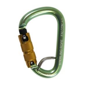 Sterling Rope Falcon W/talon Autolock Small Pear Carabiner .95″ Gate Opening 25 Kn Triple Locking