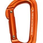 Fusion Contigua Straight Non-Locking Gate Carabiner, Orange, X-Small