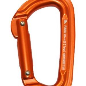 Fusion Contigua Straight Non-Locking Gate Carabiner, Orange, X-Small