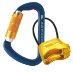 Fusion Essence Auto-Locking Carabiner With Saturn Belay Device (Blue/Gold)