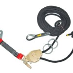 Guardian Fall Protection 04639 Kernmantle Horizontal Lifeline System with Tensioner, 2 O-Rings, 2 Web Slings, 2 Steel Carabineers and SOS-Bag, 60-Foot