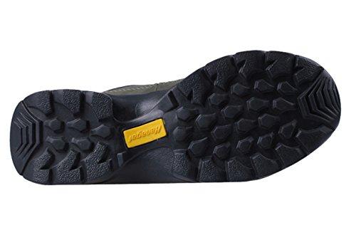 HANGLA Womens Leather Waterproof Climbing Travel Ankel Boots Gray 38EU