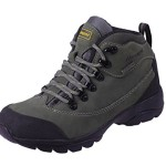 HANGLA Womens Leather Waterproof Climbing Travel Ankel Boots Gray 38EU