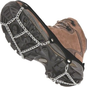 ICETrekkers Shoe Chains, Large (Men's 9.5-12/Women's 10.5), Black