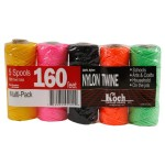 Koch 5370000 No.18 by 160-Feet Twisted 3 Strand Mason Line, Assorted