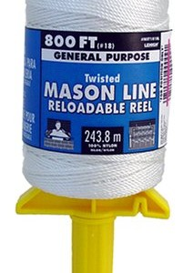 Lehigh Secure Line NST181RL Reloadable Reel Mason Line, 800-Foot