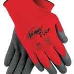 Memphis Glove 127-N9680M Ninja Flex 15 Guage Red100 Pct. Nylon Shell Gray La