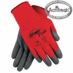 Memphis MCR Ninja N9680 Latex Coated Red Nylon Gloves Size Medium (One Dozen)