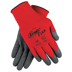 Memphis N9680M Medium Ninja Flex 15 Gauge Coated Work Gloves