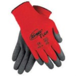 Memphis Ninja Flex Gray Crinkle Latex Coated Work Gloves. Purchase of 15