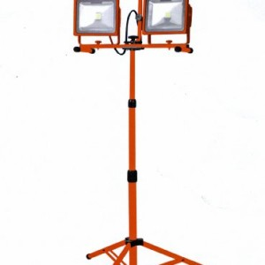 Milspec Direct Power Tech LED Twin Work Light with Tripod - 6600 Lumens Output