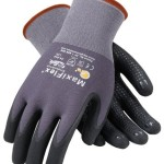 PIP Maxiflex Endurance 34-844 Black/Gray Large Nylon Cut-Resistant Gloves - EN 388 1 Cut Resistance - Nitrile Dotted Palm & Fingers Coating - 8.7 in Length - Seamless Knit - 34-844/L [PRICE is per DOZEN]