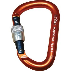 Pirate Screw-Lock Carabiner – Screw-Gate by Rock Exotica
