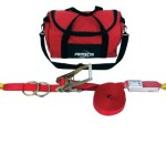 Protecta PRO-Line, 1200105 Protecta 60-Feet Horizontal Lifeline System With Carrying Bag, Red