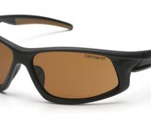 Pyramex Carthage Safety Glasses, Sandstone Bronze Anti-fog Lens w/ Black/Tan Frame CHB618DTCS