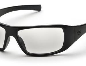 Pyramex Goliath Safety Eyewear, Clear Lens With Black Frame