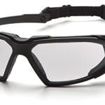 Pyramex Highlander Safety Eyewear, Clear Anti-Fog Lens With Black Frame