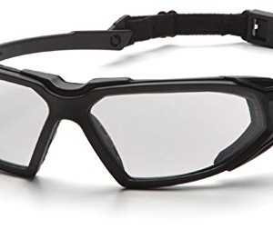 Pyramex Highlander Safety Eyewear, Clear Anti-Fog Lens With Black Frame
