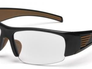 Pyramex Ironside Safety Glasses, Sandstone Anti-fog Lens w/ Black Frame CHB510DTCSC