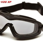 Pyramex Safety V2G-XP Eyewear, Black Strap, Clear Anti-Fog Dual Lens