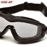 Pyramex Safety V2G-XP Eyewear, Black Strap, Clear Anti-Fog Dual Lens