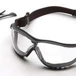Pyramex V2G Safety Eyewear, Clear Anti-Fog Lens With Black Strap/Temples