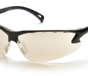 Pyramex Venture 3 Safety Eyewear, Indoor/Outdoor Mirror Lens With Black Frame
