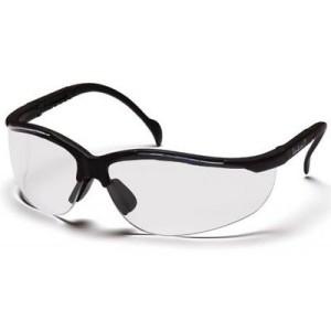 Pyramex Venture Ii Safety Eyewear, Clear Anti-Fog Lens With Black Frame