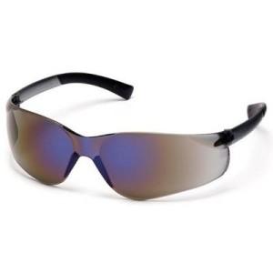 Pyramex Ztek Safety Eyewear, Blue Mirror Lens With Blue Mirror Frame