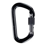 SMC Locking D Nfpa Aluminum Carabiner 8211 Black