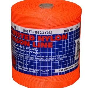 T.W . Evans Cordage 11-191 Number-18 Twisted Nylon Mason Line, 1100-Feet, Orange